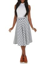 STYLE REPUBLIC - Midi Skirt Blue and White