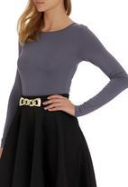 c(inch) - Bodysuit with open back Dark Grey