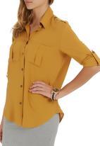 c(inch) - utility shirt Yellow