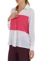 c(inch) - Colourblock shirt Mid Pink
