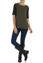 STYLE REPUBLIC - Fatigue inset t-shirt Green (dark green)