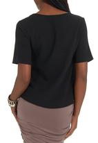 c(inch) - Lazer-cut T-shirt Black