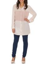 STYLE REPUBLIC - Inset Shirt Pale Pink