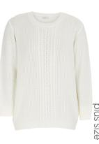 edit - Crew-neck Cable-knit Jersey Milk