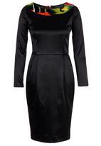 ef2ef11d24ce Long-sleeve Shift Dress Black Thula Sindi Occasion | Superbalist.com
