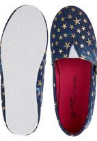 Footwork - Denim Slip-on Sneakers Multi-colour