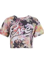 All About Eve - Flower crop tee Multi-colour
