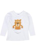 Ice Age - Tiger Long-sleeve Top White