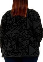 edit - Aztec Waterfall Cardigan Black