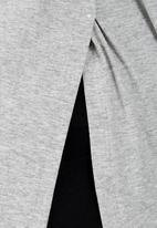 edit - Layered Tunic Pale Grey Pale Grey