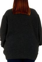 edit - Crew neck cable knit Dark Grey