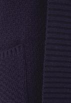 edit - Longer-length Cardigan Dark Blue Dark Blue