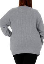 edit - Crew neck cable knit Pale Grey
