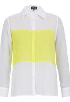 c(inch) - Colourblock Shirt Yellow