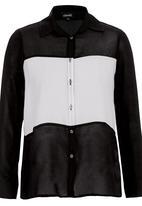 c(inch) - Colourblock Shirt Black