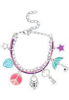 Jewels and Lace - Charm Bracelet Multi-colour