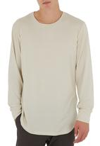 STYLE REPUBLIC - Curved Long-sleeve T-shirt Stone
