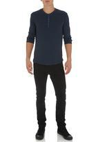 S.P.C.C. - Henley T-shirt Navy