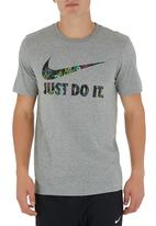 Nike - Nike Floral Swoosh T-shirt Mid Grey Mid Grey