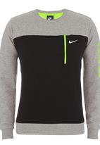 Nike - NIKE CLUB CREW-TECHY Grey