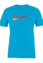 Nike - Nike Swoosh 'n Splatter T-shirt Mid Blue  Mid Blue