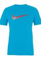 Nike - Nike Centre Swoosh T-shirt Blue (mid blue)