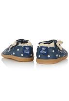 shooshoos - Leather Polka Dot Shoes Tan