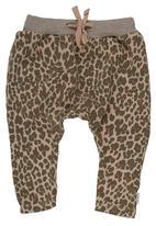 Sticky Fudge - Leopard-print Pants Brown Mid Brown