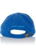 POLO - Washed Big Pony Peak Cap Blue Dark Blue