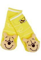 Character Baby - Pooh Bear Rattle Socks Yellow