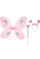 Smitten - Fairy Wings Set Baby Pink  Mid Pink