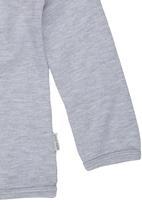 Sticky Fudge - Long-sleeve T-shirt with Bear Print Grey Pale Grey