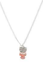 Jewels and Lace - Owl Pendant Necklace Multi-colour