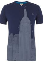 555 Soul - Chesney T-shirt Mid Blue Mid Blue