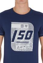 Blend - Graphic Tee. Navy