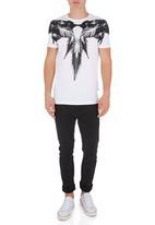 Shine - Animal print Tee S/S Black and White