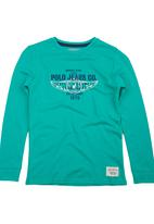 POLO - Ayden Printed T-shirt Green Mid Green