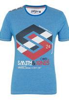 Smith & Jones - Stoneleigh Tee Mid Blue
