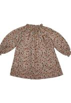 Sticky Fudge - Floral-printed dress with ruching Brown