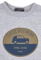 Sticky Fudge - Adam T-shirt in grey melange