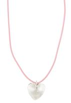 Jewels and Lace - Crystal Heart Necklace Pale Pink Pale Pink