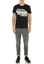 Dstruct - Clamped Tee Black
