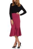 Sensation - Flare Skirt Mid Pink Mid Pink