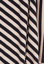 edit - Oversized Stripe Tunic Stone