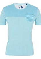 Crosshatch - Reuban T-shirt Turquoise