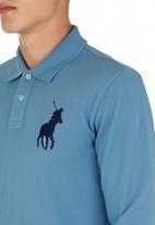 POLO - Long-sleeve Golfer Mid Blue Mid Blue