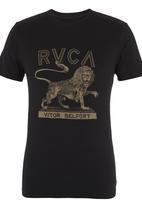RVCA - Vitor lion tee Black