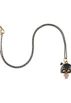 Jewels and Lace - Girl pendant necklace Multi-colour