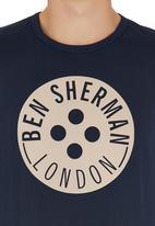 Ben Sherman - Button Logo T-shirt Navy