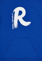 Rebel Republic - Hoodie Blue Mid Blue
